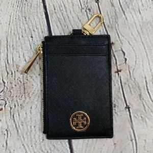 Tory Burch Bags - Tory Burch Black Leather Lanyard Card Holder